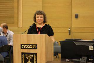 Элеонора Гройсман в Кнессете, фото Киев еврейский