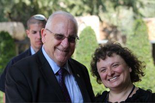 Президент Израиля Реувен Ривлин и главный редактор медиа-проекта Киев евреййский Элеонора Гройсман