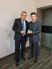 Владимир Зеленский с Зеэвом Элькиным