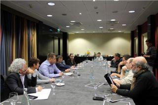Пресс-конференция в Израиле Бориса Филатова и Геннадия Корбана, фото Киев еврейский